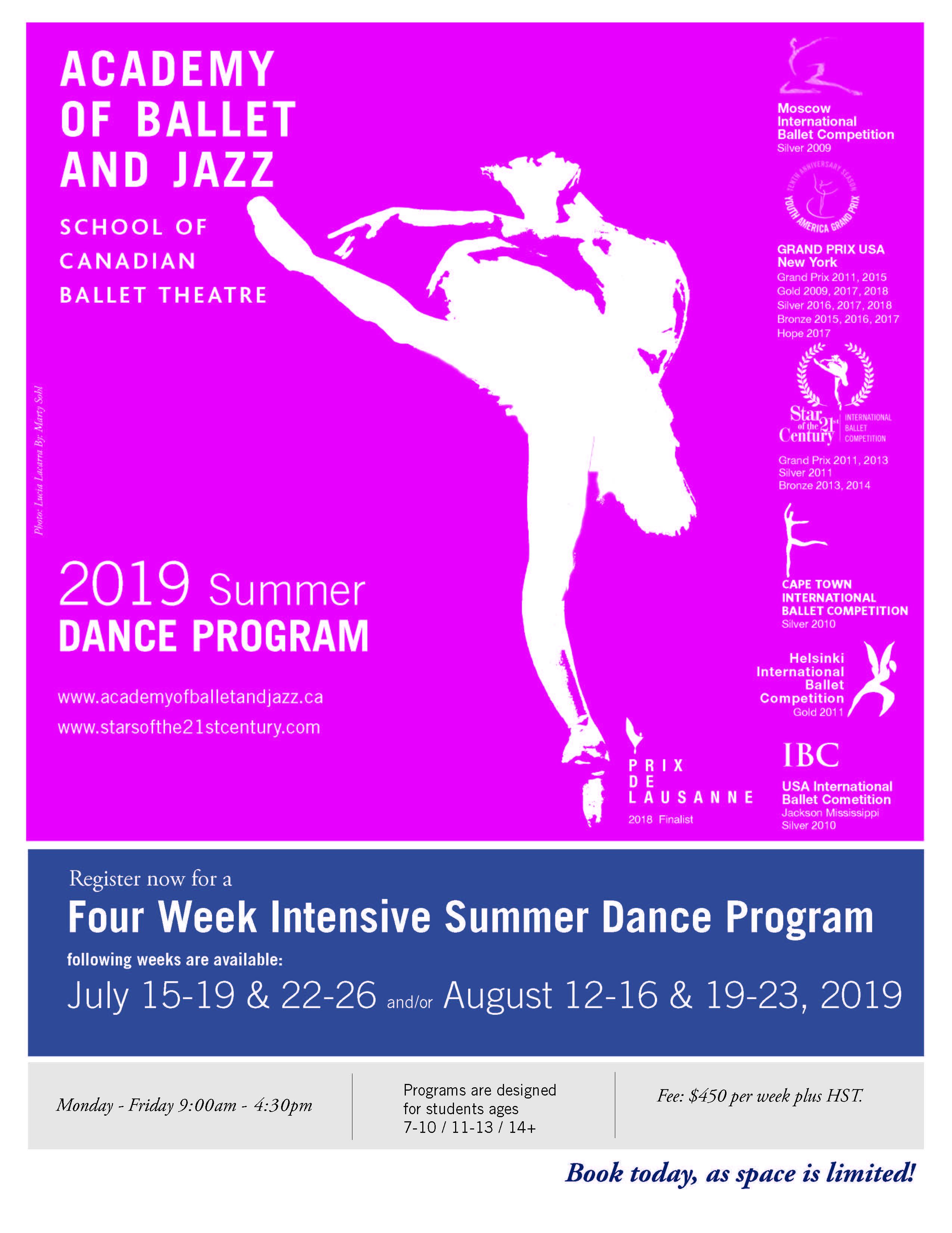 Summer School 2019 - Academy of Ballet and Jazz